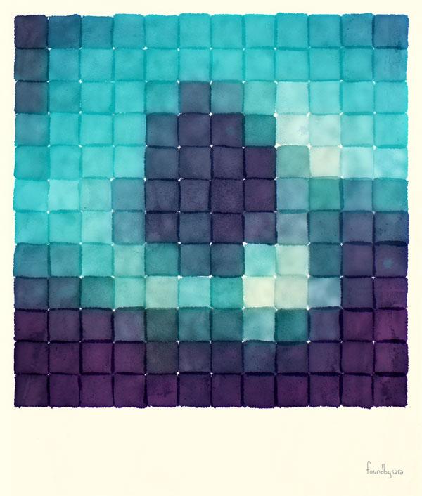 Polaroid Pixels II (Tree)