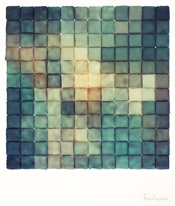 Polaroid Pixels III (Chain)