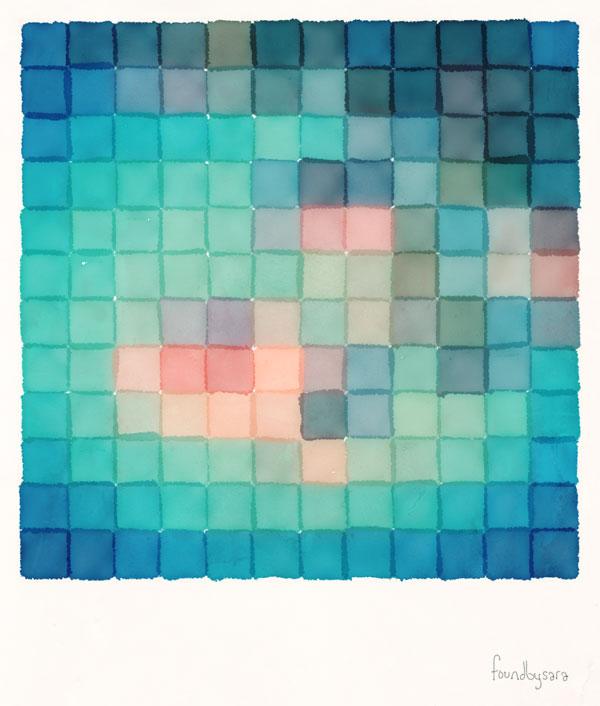 Polaroid Pixels VI (Crabapple)