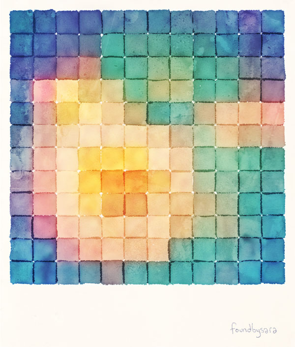 Polaroid Pixels VII (Bloom)