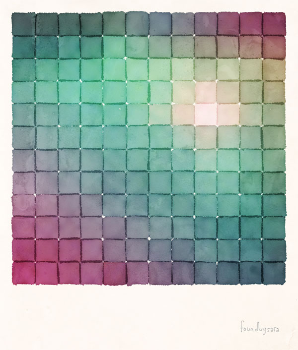 Polaroid Pixels VIII (Glow)