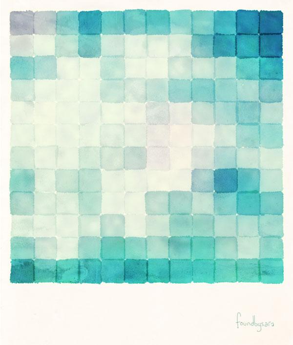 Polaroid Pixels (Clouds)