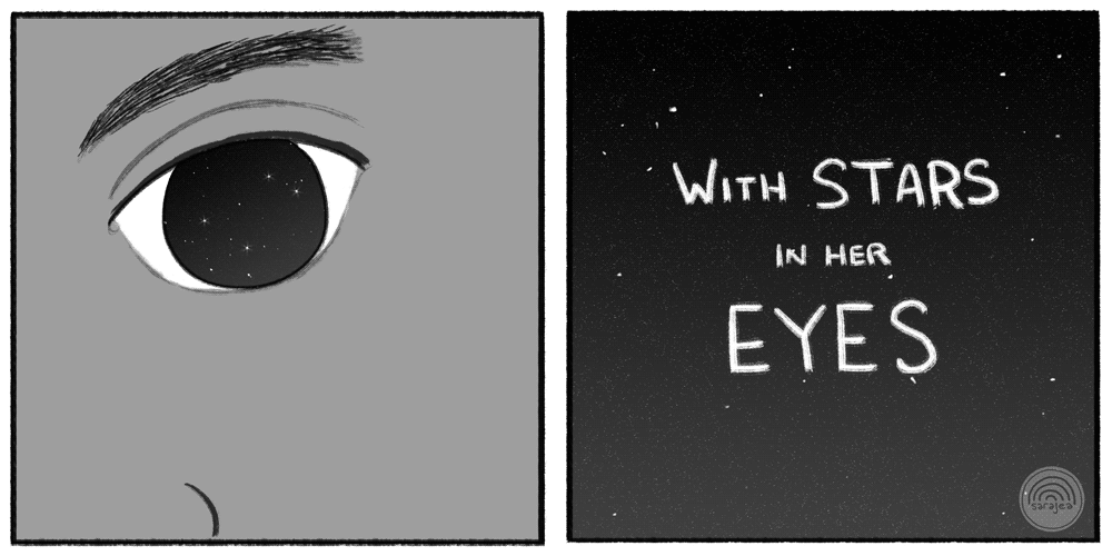 """With Stars in Her Eyes,"" Page Eleven."