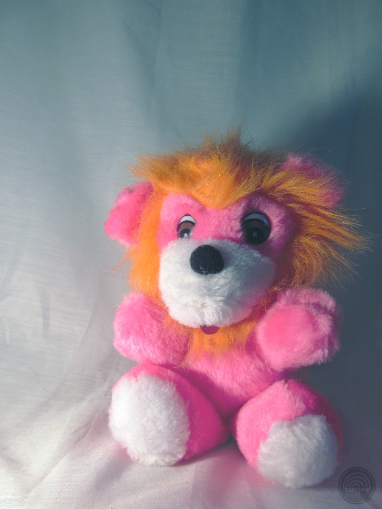 Wee Neon Carnival Prize Lion Cub.  Thrift Shop Hell, 2014.